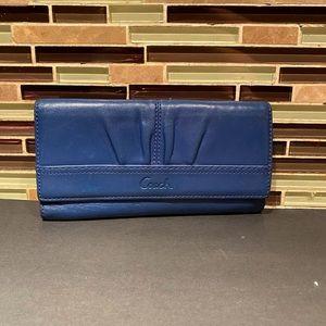 Coach Dark Blue Snap Wallet
